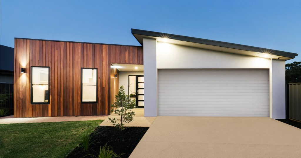 residence with external concrete resurfacing by floortex industries