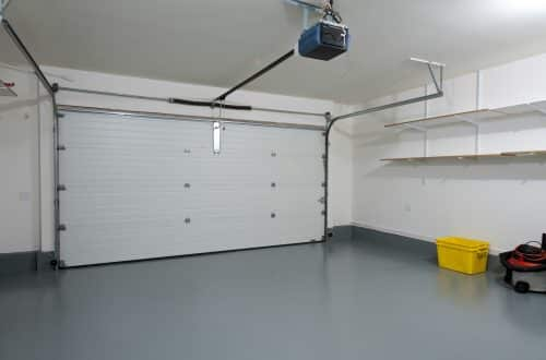 garage and working area with seamless epoxy flooring by floortex industries